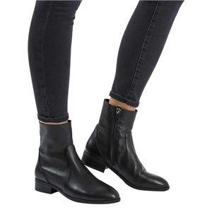 Topshop Klash Leather Sock Boots 37/7